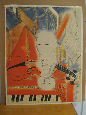 "after Raoul Dufy ""Homage to Mozart"" Screen Print in Colors"