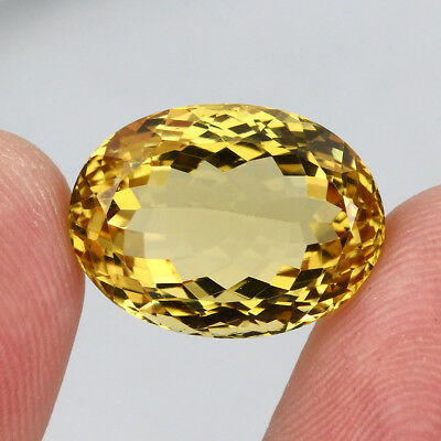 Citrine Clean Precious! 17.62ct. 100%natural Unheated Top Yellow Golden Brazil