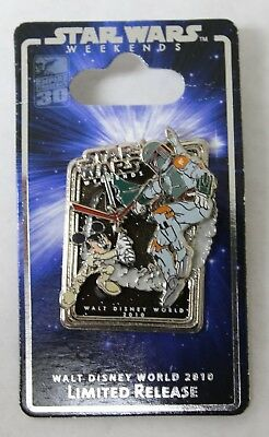 Disney Star Wars Weekends 2010 Pin Boba Fett & Jedi Mickey Mouse Limited Release