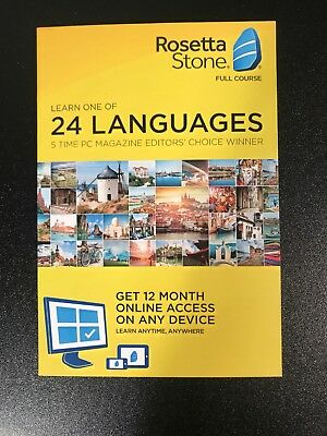 Rosetta Stone: 12 Month Subscription  iOS, Android, PC, and Mac - NEW