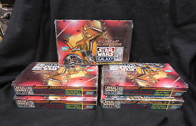 5 Box Lot 1994 Topps Star Wars Galaxy Series 2 Factory Sealed Boxes. Look!