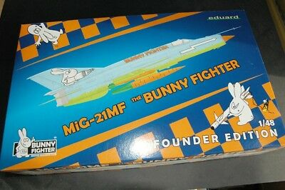1/48 Eduard Mig 21Mf Bunny Fighter Members Edition Very Rare with resin and etch
