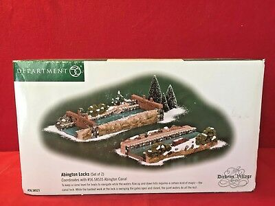 Abington Locks Dept 56 Dickens Village 58521 Christmas canal victorian city A