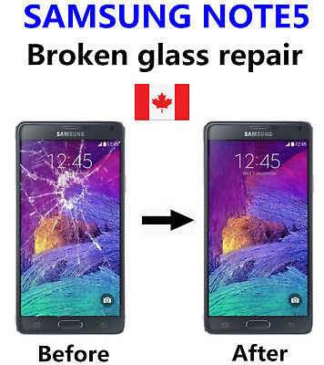 Samsung Galaxy Note 5 Cracked Glass ONLY/Working LCD mail-in Repair Service