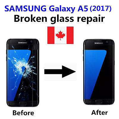 Samsung Galaxy A5 2017 Cracked Glass ONLY/Working LCD mail-in Repair Service