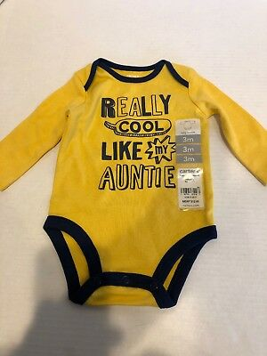 0a58cc91ce7 CARTERS BABY BOYS Cool Like My Auntie Bodysuit 18 months -  8.80 ...