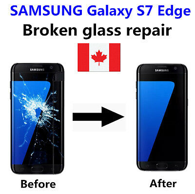 Samsung Galaxy S7Edge Cracked Glass ONLY/Working LCD mail-in Repair Service