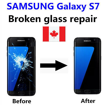 Samsung Galaxy S7 Cracked Glass ONLY/Working LCD mail-in Repair Service