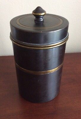 Vintage Bradley And Hubbard Brass T0Bbaco Humidor Jar With Lid