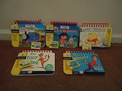 Leap Frog My First Leap Pad lot Of 5 Books w/ Cartridges