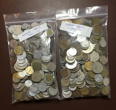 Europe Coin Lot – 6 ¼ Plus Pounds Good Mix And Variety.