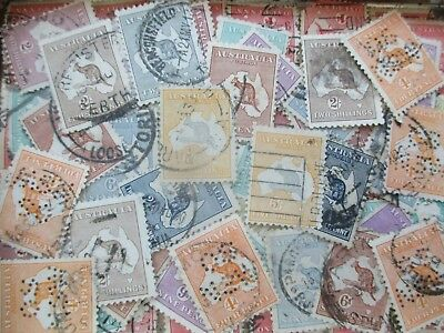 ESTATE: Kangaroos in tin - unchecked unsorted recent find - heaps   (s77)