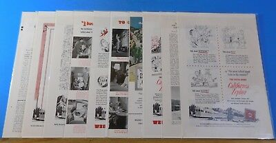 Ads Western Pacific Railroad Lot #20 Advertisements from various magazines (10)