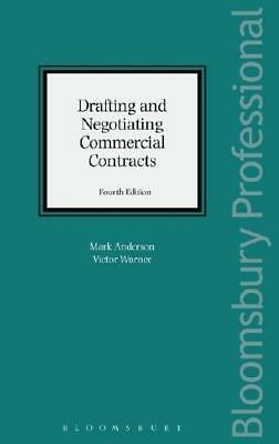Drafting and Negotiating Commercial Contracts by Mark Anderson (author), Vict...