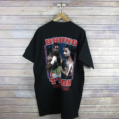 MIKE TYSON Vintage 1996 T Shirt Frank Bruno 90s Boxing Fight