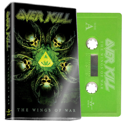 OVERKILL 'THE WINGS OF WAR' Limited Edition of 200 lime Green Cassette