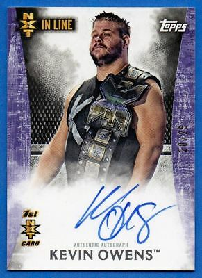 Kevin Owens 2015 Topps WWE Undisputed Autograph 20/25 NXT In Line Signed Purple