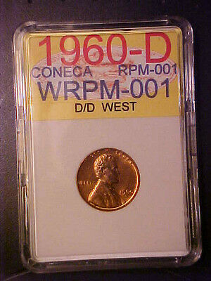 1960-D/d Lg Dt Rpm-001 Lincoln Cent Gem Bu Red Top 100  Coneca Rpm H21Hxxx