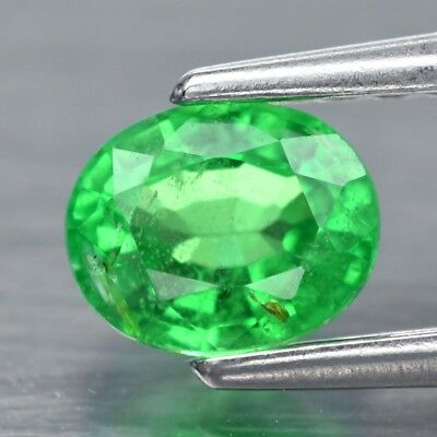 0.50ct 5x4mm Oval Natural Vibrant Green Tsavorite Garnet, Tanzania
