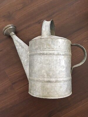 Vintage Galvanized Watering Can, Great Quality, Excellent Condition!