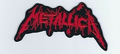 Metallica Blood Logo Red Embroidered Patch !