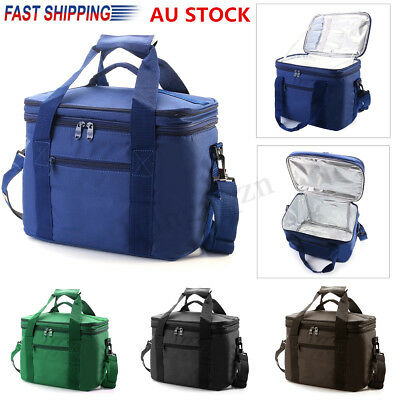 Large Double layer Insulated Lunch Bag Cooler Travel Outdoor Picnic Tote Handbag