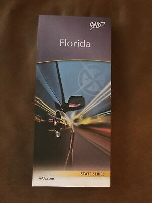 AAA FLORIDA State Travel Road Map US States 2018-2020 Vacation Roadmap