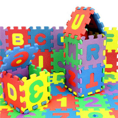 36Pcs Baby Child Number Alphabet Puzzle Foam Maths Educational Learning Toy Hot