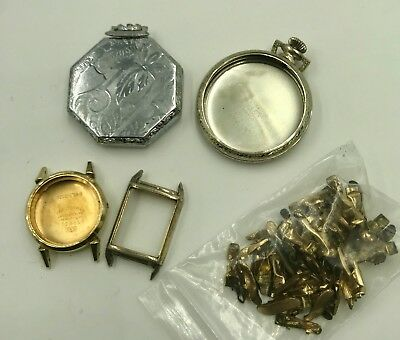 67g LOT of Recovered Gold 10/12K Gold Filled Watch Cases + Jewelry