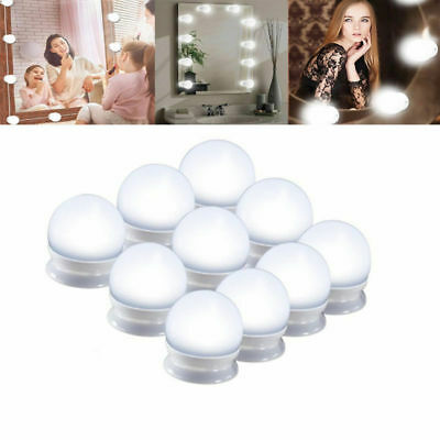Makeup LED Vanity Mirror Strip Lights Dimmable White Flexible Light Kits NEW USA