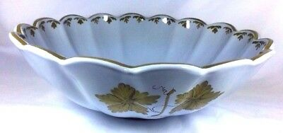 Italian AMM Pottery Vineyards Hand Painted Scalloped Large Serving Soup Bowl