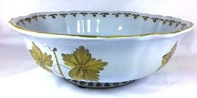 """Hand Painted Italian Vineyards Hand Painted AMM Pottery Salad Serving Bowl 10"""""""