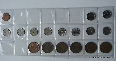 Mixed Netherlands 5 & 10 Cent Coin's  Mix Modern World In Cut Page #wo7