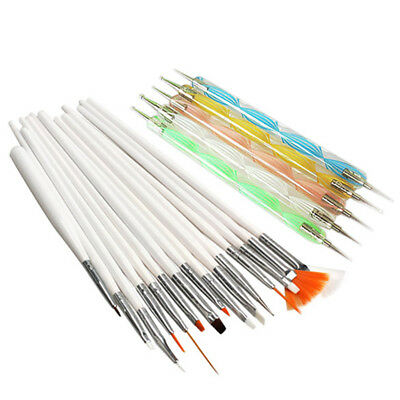 20pcs Nail Art Dotting Pen Painting Tools Drawing Polish Set Brush Kit