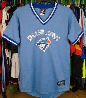 Toronto Blue Jays Majestic Mlb Baseball Shirt Jersey Top Medium Adult