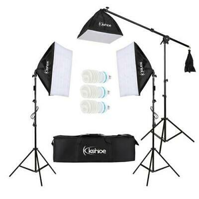 1000W Photo 3 Soft Box Video Lighting Light Stand Kit Photography Studio Set