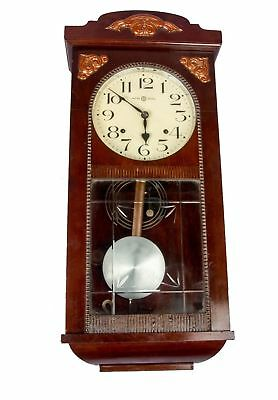 Antique Wooden Art Décor Collectible Handcrafted Pendulum Wall Clock HB 057