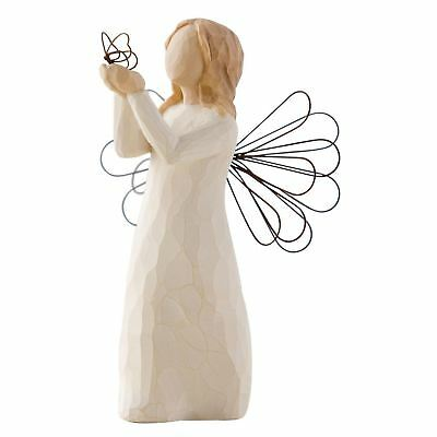 Willow Tree Angel of Freedom Resin Figurine Hand-Painted Keepsake Ornament Gift
