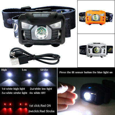 30000LM LED Rechargeable Headlight Torch T6 Headlamp Head Light USB Rechargeable