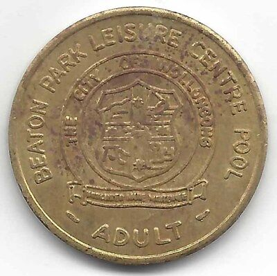 Beaton Park Leisure Centre City of Wollongong Pool ADULT Token 27mm Brass Finish