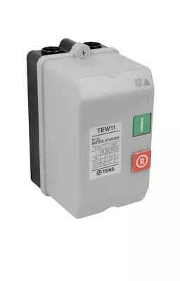 CED - TEW11A6 - DOL Starter 12amp 240V 3KW - IP65 - Direct On Line Starter