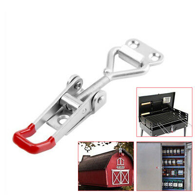 4x Adjustable Latch Catch Lock Cabinet Boxes Lever Handle Toggle Clamp Hasp H6O8