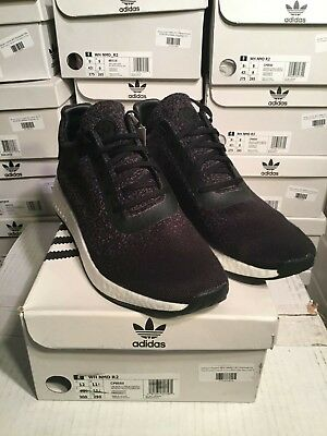 aec047094be7e SALE Adidas Consortium X Wings + Horns WH NMD R2 Black CP9550 Size 8.5-12