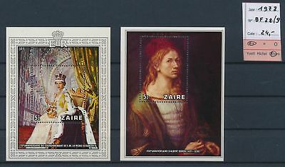 LJ63864 Zaire 1978 royalty paintings sheets MNH cv 24 EUR