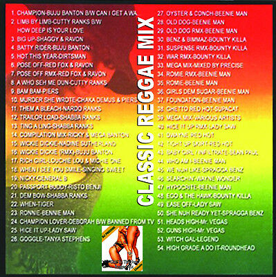 Best Of OLD TO THE NEW REGGAE DJ Compilation Mix CD