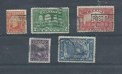 Canada stamps. 1927 60th Anniversary of Confederation used. (X031)