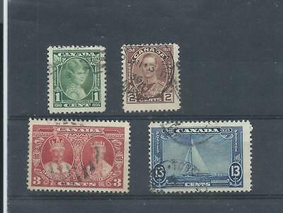 Canada stamps. 4 of the 1935 Siliver Jubilee set used (A666)