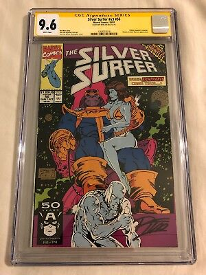 Silver Surfer #56 CGC SS 9.6 Infinity Gauntlet, Thanos, Warlock, Signed Ron Lim