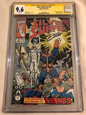 Silver Surfer #55 CGC SS 9.6 Infinity Gauntlet, Thanos, Warlock, Signed Rom Lim