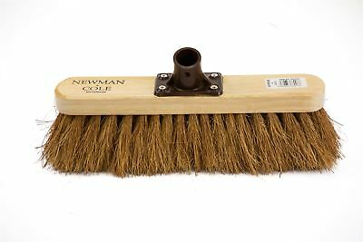 """Newman and Cole 12"""" Natural Soft Coco Broom Head Indoor Sweeping Brush"""